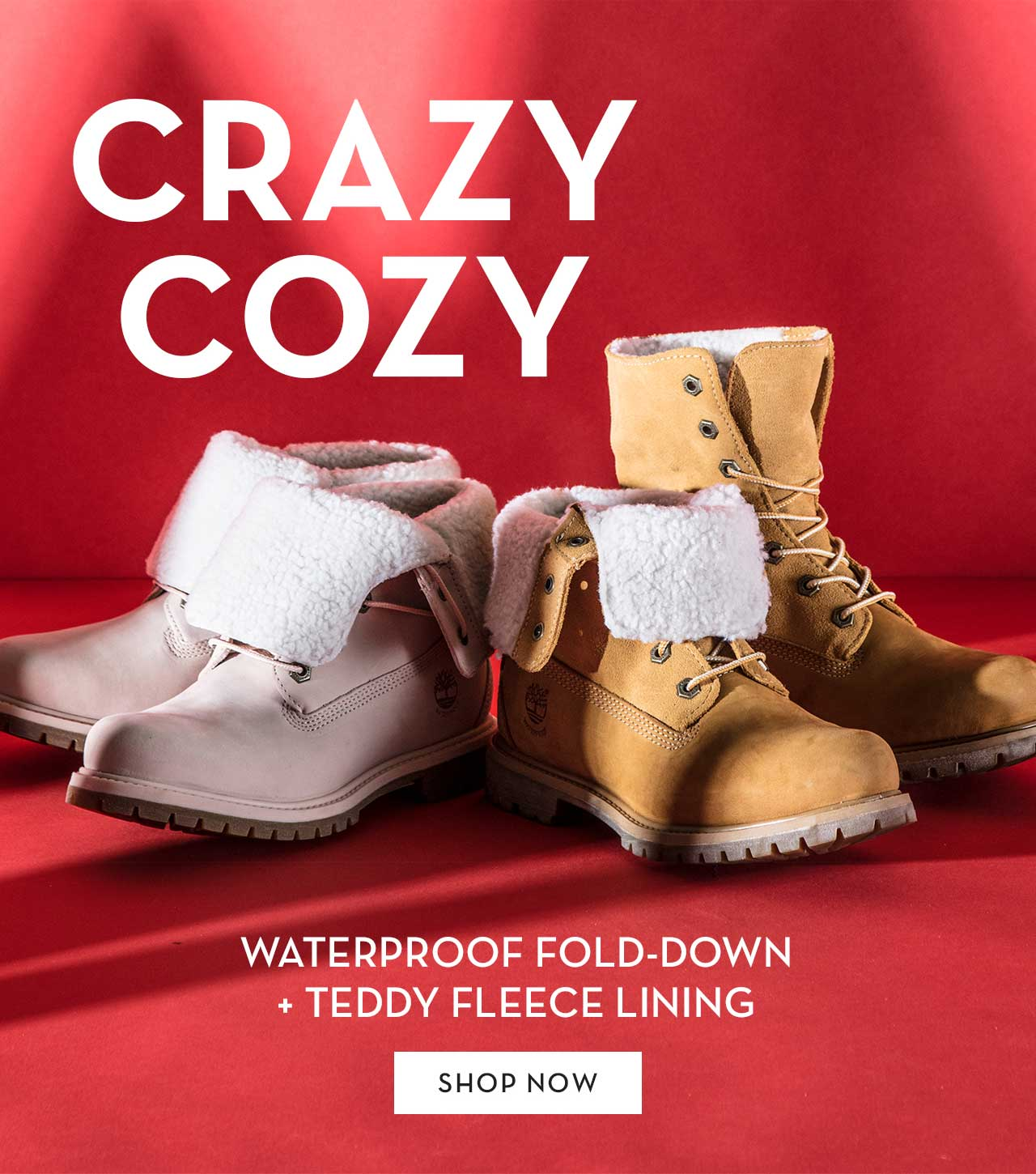 Crazy Cozy Waterproof Fold-Down + Teddy Fleece Lining Shop Now