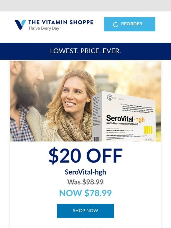 Vitamin Shoppe: Get SeroVital-hgh at our best price ever
