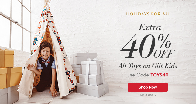 Extra 40% Off All Toys. Use Code TOYS40.