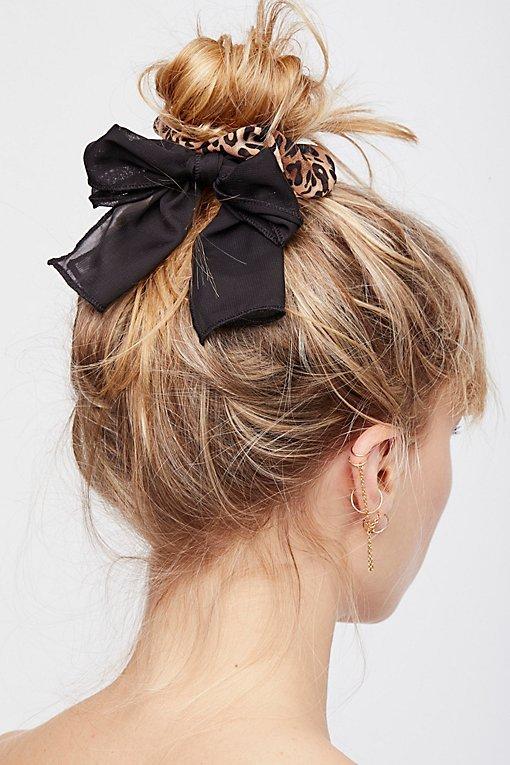 Colorblock Bow Scrunchie