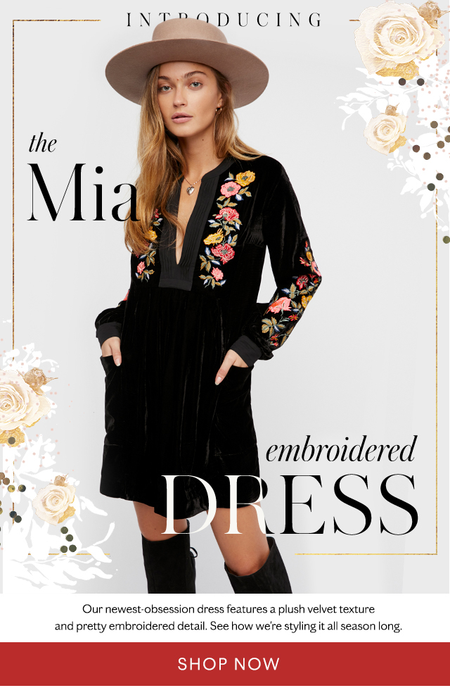 Shop the Mia Embroidered Dress