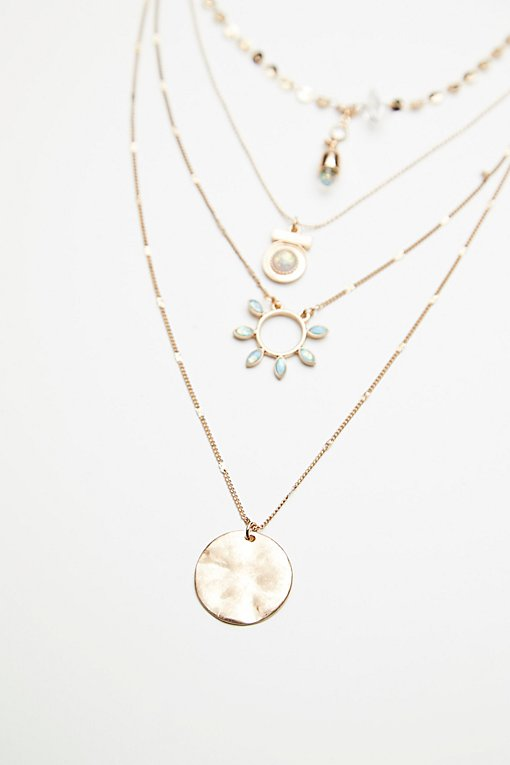 Delicate Tiered Stone Necklace
