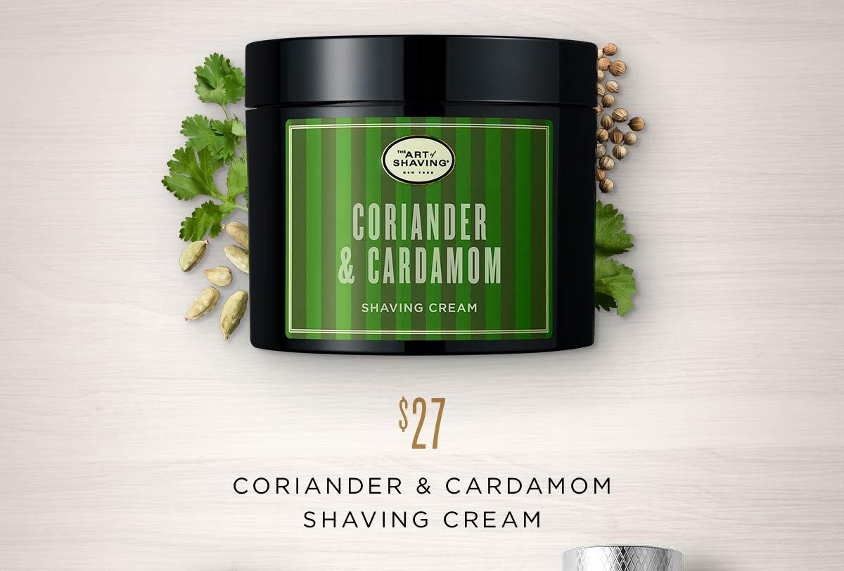 Coriander & Cardamom Shaving Cream