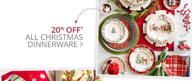 20% off all Christmas dinnerware.