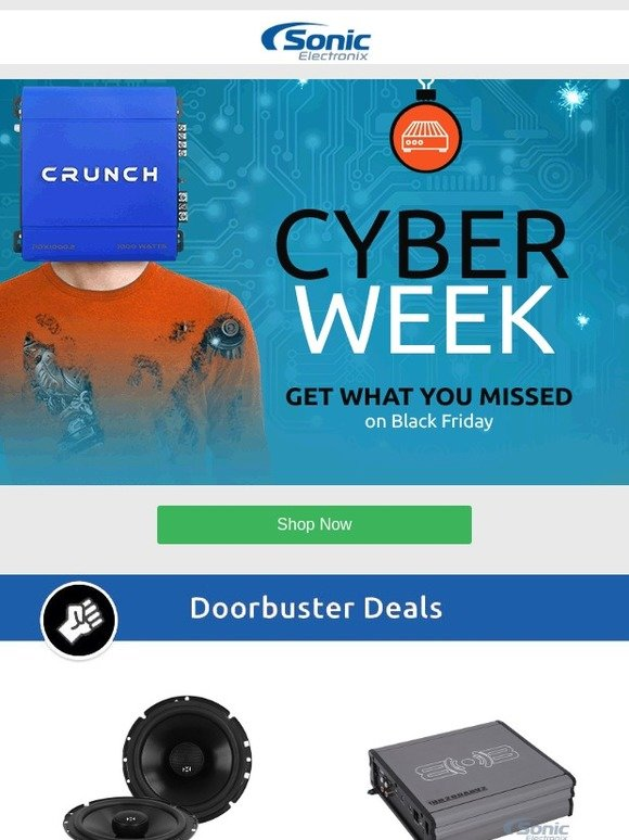 Sonic Electronix: CYBER WEEK Extended for 24 More Hours | Milled