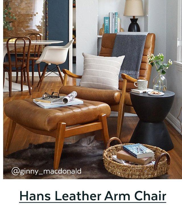 Hans Leather Arm Chair