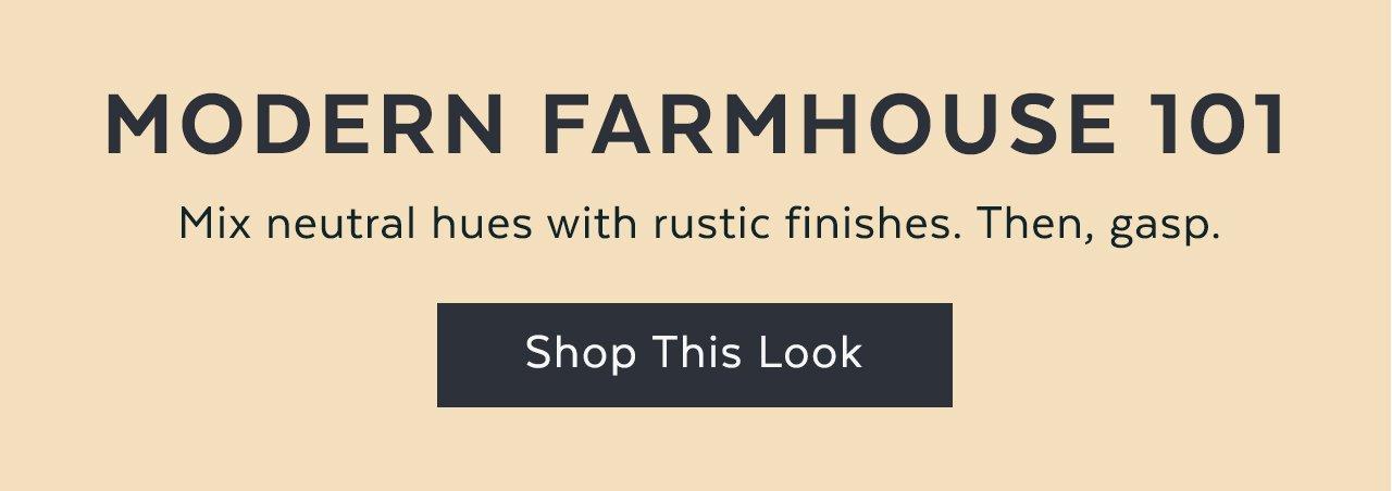 Modern Farmhouse 101