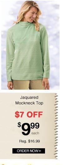 Jacquard Mockneck Top