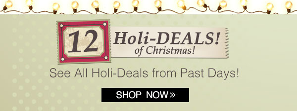 12 Holi-Deals of Christmas!