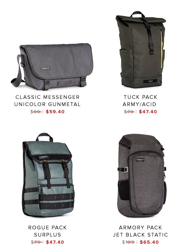Classic Messenger | Tuck Pack | Rogue Pack | Armory Pack | Shop Sale
