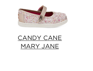 Candy Cane Mary Jane