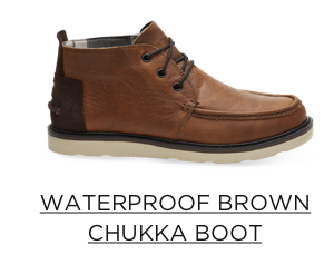 Waterproof Brown Chukka Boot
