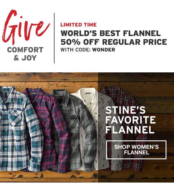 50% OFF THE WORLD'S BEST FLANNEL | SHOP WOMEN'S FLANNEL