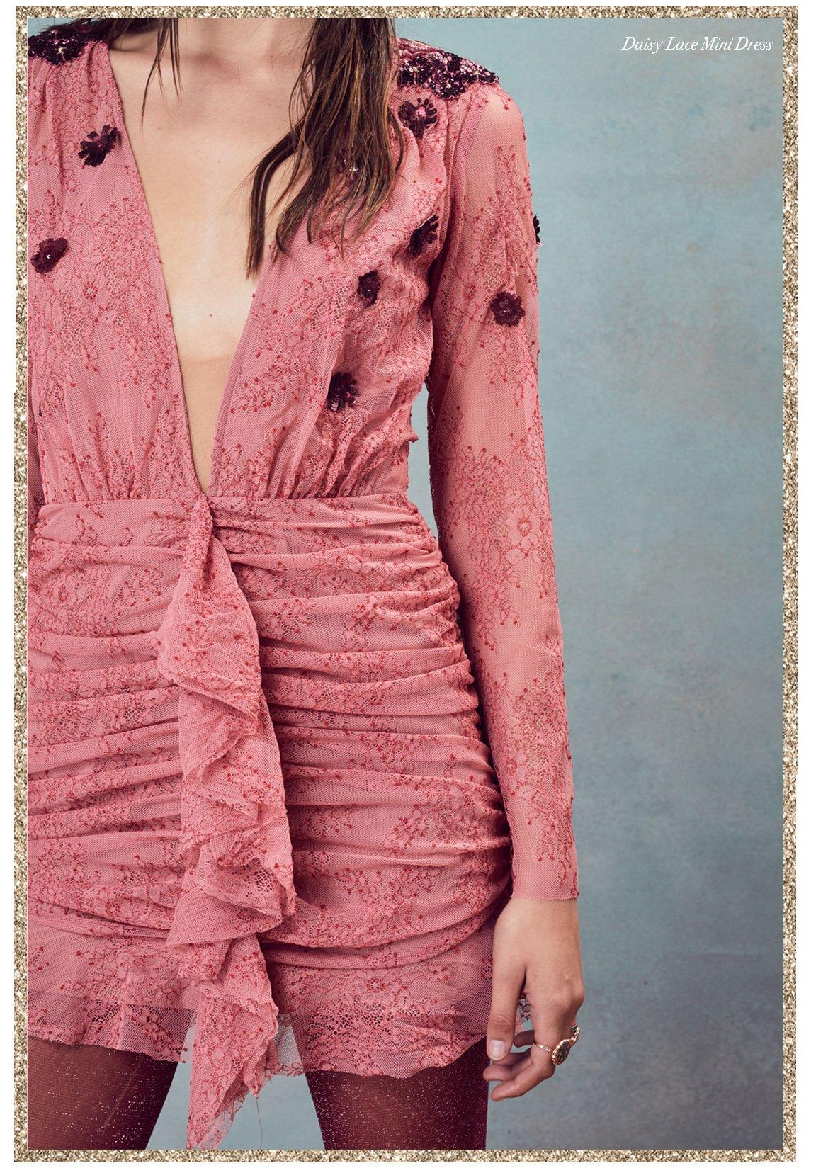 Daisy Lace Mini Dress