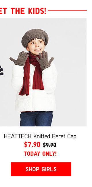 DON'T FORGET THE KIDS!  HEATTECH Knitted Beret $7.90 - Shop Girls