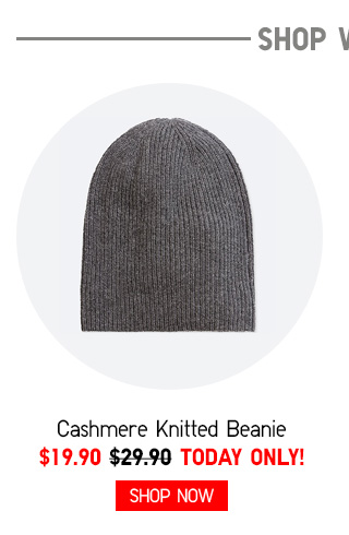 SHOP WOMEN - Cashmere Knitted Beanie $19.90 TODAY ONLY! Shop Now