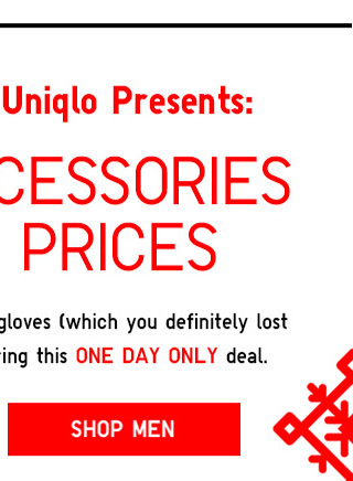 The 14 Days of Uniqlo Presents: WARM ACCESSORIES AT HOT PRICES - Shop Men
