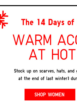 The 14 Days of Uniqlo Presents: WARM ACCESSORIES AT HOT PRICES - Shop Women