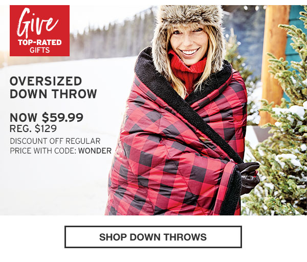 SHOP OVERSIZED DOWN THROW
