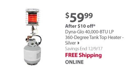 Dyna-Glo Tank top Heater