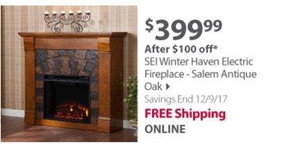 SEI Electric Fireplace