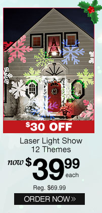 Laser Light Show - 12 Themes