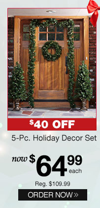 5-Pc. Holiday Decor Set