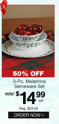 3-Pc. Melamine Serveware Set