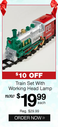 Train Set With Working Head Lamp