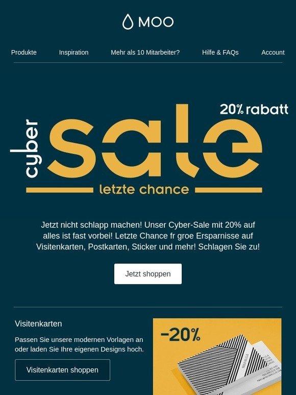 moo.com: Beeilung! 20% Rabatt ist so gut wie … fast … beinahe ...