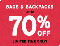 Bags & Backpacks - Up to 70% Off