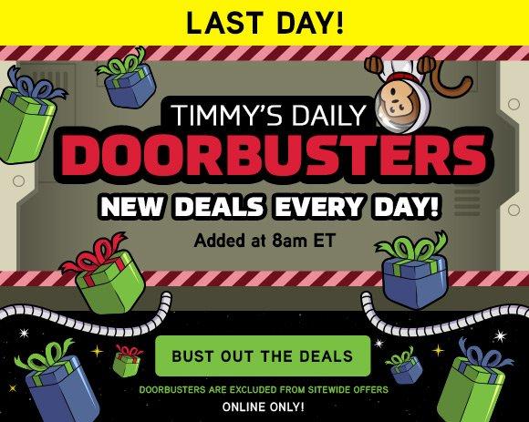 Timmy's Doorbusters