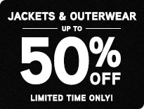 Jackets & Outerwear - Up to 50% Off