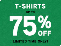 T-Shirts - Up to 75% Off