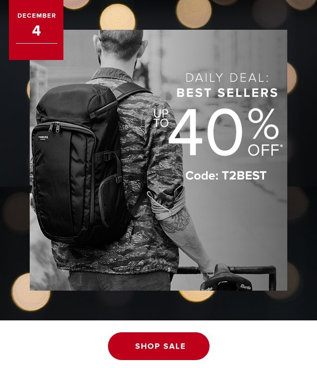 Dec 4  Daily Deal BEST SELLERS | Up to 40% Off Code T2BEST