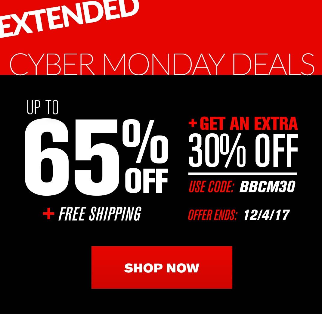 Cyber Monday - Save up to 65% + Extra 30% OFF + Free Shipping
