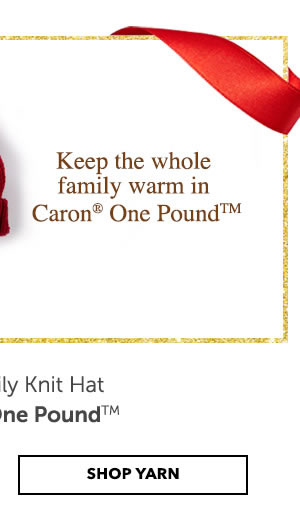 SHOP CARON ONE POUND YARN.