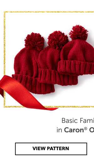 Keep the whole family warm in Caron One Pound. Basic Family Knit Hat. VIEW PATTERN.