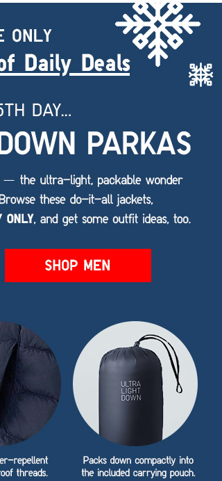 The 14 Days of Daily Deals: 5th day -- ULTRA LIGHT DOWN PARKAS