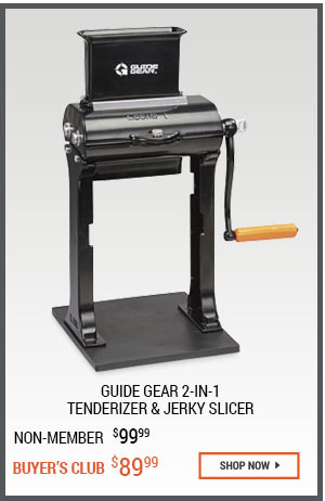 Guide Gear 2-in-1 Tenderizer & Jerky Slicer