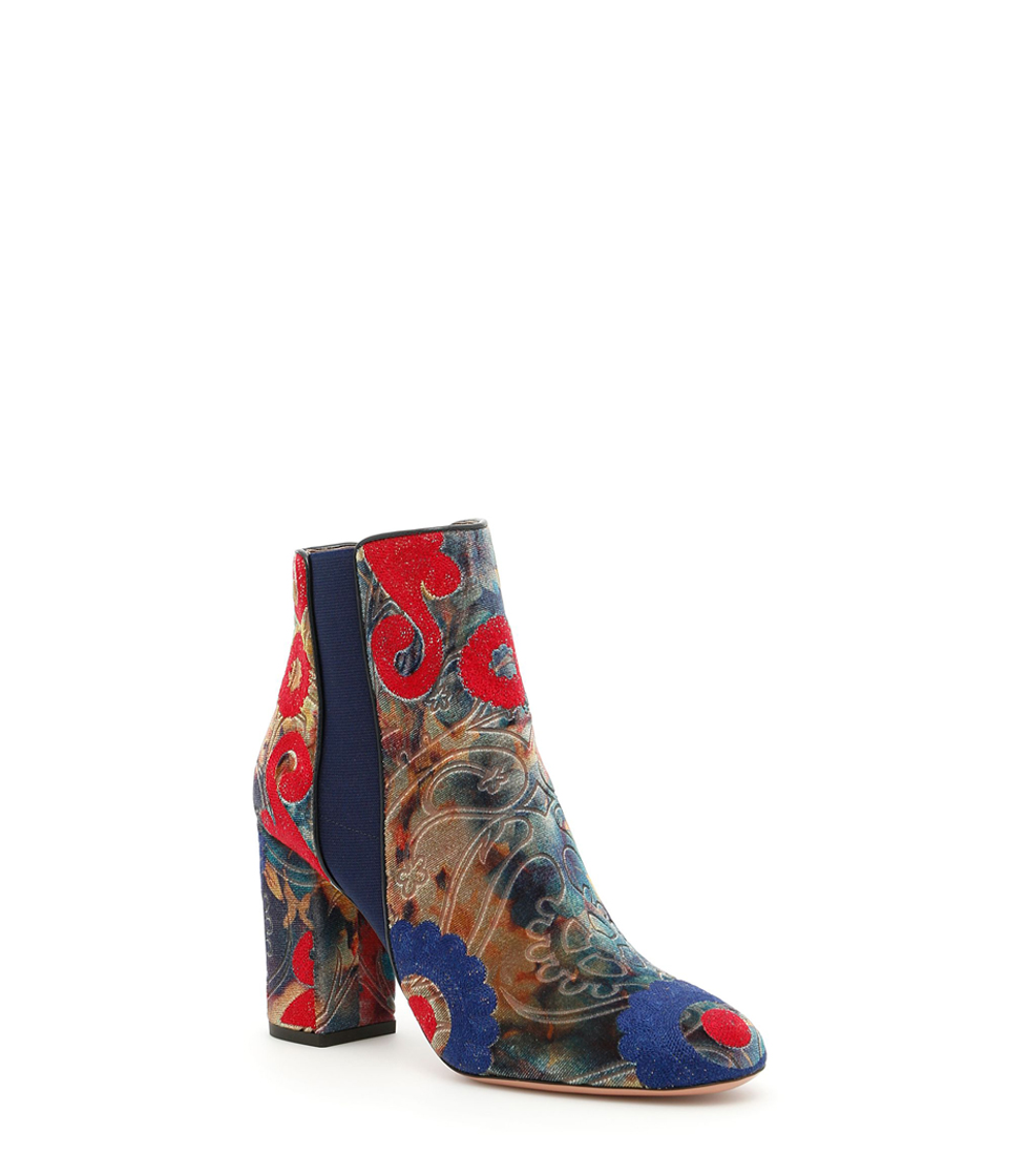 Embroidered Kaia Booties