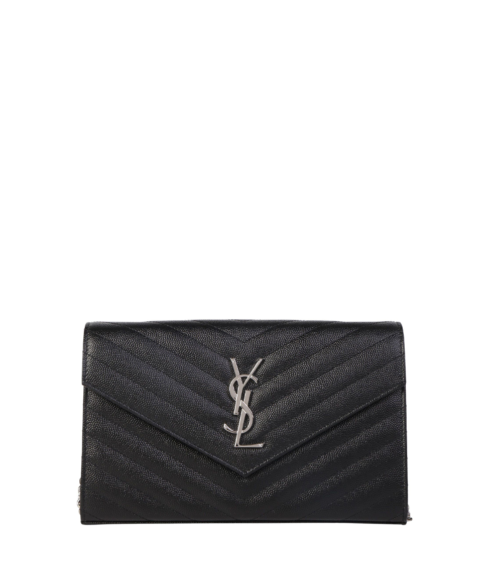 Saint Laurent Monogram Matellass Chain Wallet