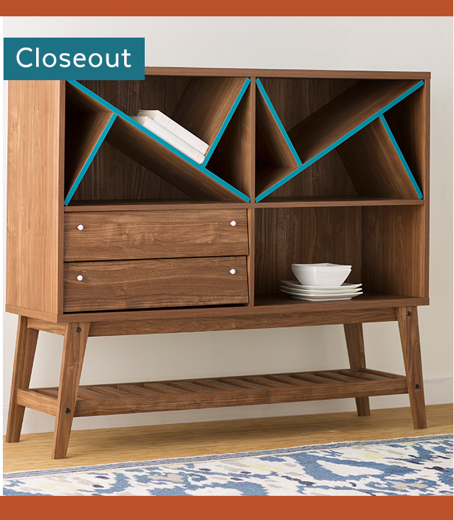 Blue/Brown Sideboard