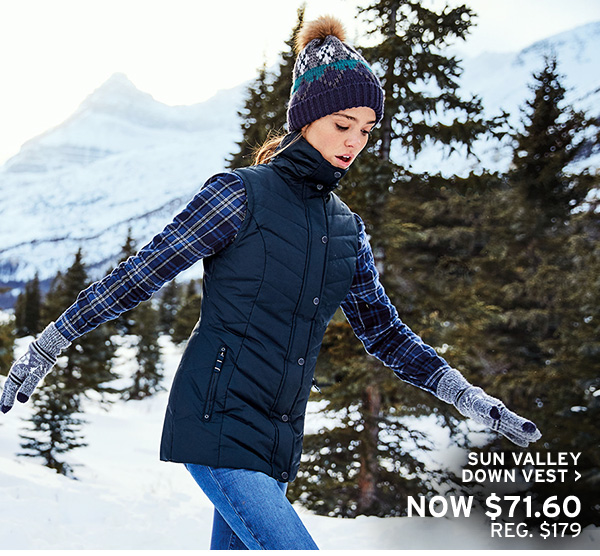GIVE WARMTH | SHOP SUN VALLEY DOWN VEST