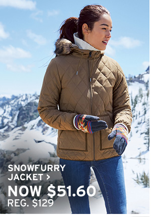 GIVE WARMTH | SHOP SNOWFURRY JACKET