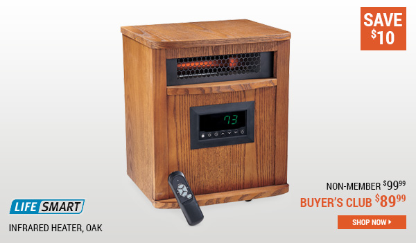 Lifesmart Infrared Heater, Oak
