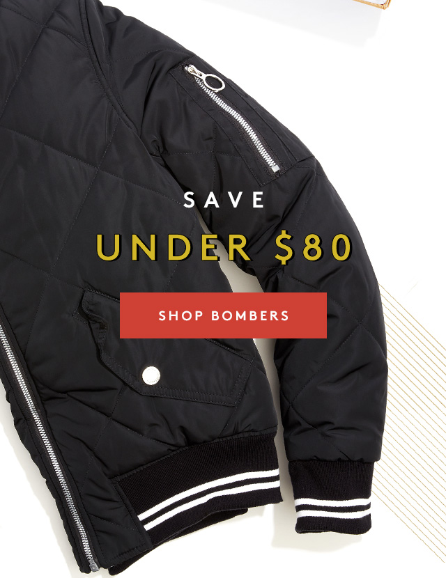 Save | Under $80 | Shop Bombers