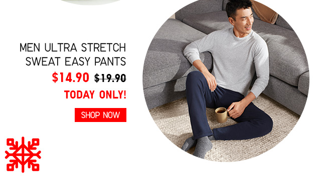 Men Ultra Stretch Sweat Easy Pants $14.90 - TODAY ONLY! Shop Now