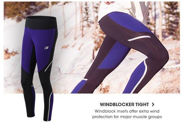 new balance run windblock women's tights