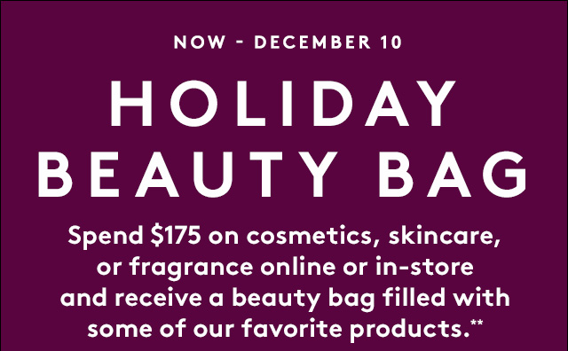 It's time for your new Beauty Bag.